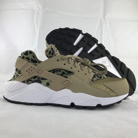 7edef662f86db Nike WMNS Air Huarache Run Print Leopard Khaki